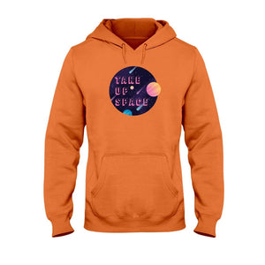 Take Up Space Classic Fit Pullover Hooded Sweatshirt-Sweatshirts-Orange-S-AllGo