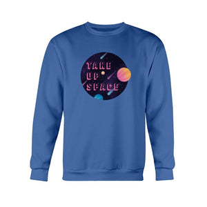 Take Up Space Classic Fit Crewneck Sweatshirt-Sweatshirts-Royal Blue-S-AllGo