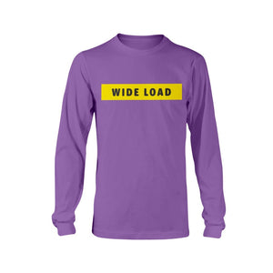 WIDELOAD Classic Fit Long Sleeve T-Shirt-Shirts-Purple-S-AllGo