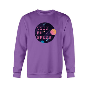 Take Up Space Classic Fit Crewneck Sweatshirt-Sweatshirts-Purple-S-AllGo