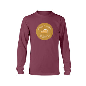 Made with Love Classic Fit Long Sleeve T-Shirt-Shirts-Maroon-S-AllGo