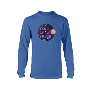 Take Up Space Classic Fit Long Sleeve T-Shirt-Shirts-Royal Blue-S-AllGo
