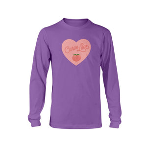 Curve Love Classic Fit Long Sleeve T-Shirt-Shirts-Purple-S-AllGo
