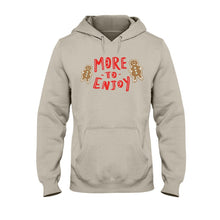 Load image into Gallery viewer, More to Enjoy Classic Fit Pullover Hooded Sweatshirt-Sweatshirts-Sand-S-AllGo