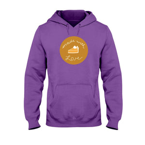 Made with Love Classic Fit Pullover Hooded Sweatshirt-Sweatshirts-Purple-S-AllGo