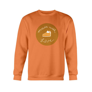 Made with Love Classic Fit Crewneck Sweatshirt-Sweatshirts-Orange-S-AllGo