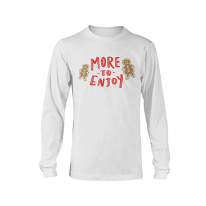 More to Enjoy Classic Fit Long Sleeve T-Shirt-Shirts-White-S-AllGo