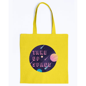 Take Up Space Canvas Tote-Accessories-Yellow-M-AllGo