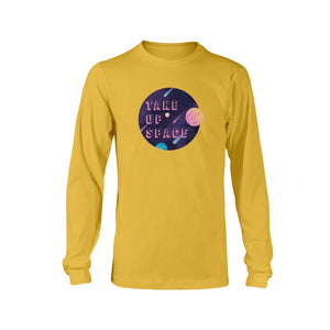 Take Up Space Classic Fit Long Sleeve T-Shirt-Shirts-Gold-S-AllGo