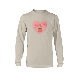 Curve Love Classic Fit Long Sleeve T-Shirt-Shirts-Sand-S-AllGo