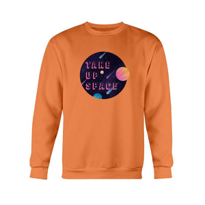 Take Up Space Classic Fit Crewneck Sweatshirt-Sweatshirts-Orange-S-AllGo