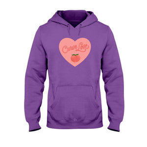 Curve Love Classic Fit Pullover Hooded Sweatshirt-Sweatshirts-Purple-S-AllGo