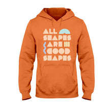 Load image into Gallery viewer, All Shapes are Good Shapes Classic Fit Pullover Hooded Sweatshirt-Sweatshirts-Orange-S-AllGo