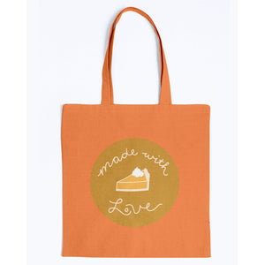 Made with Love Canvas Tote-Accessories-Orange-M-AllGo
