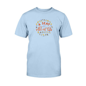 A Seat for All of Us Classic Fit Tagless T-Shirt-Shirts-Light Blue-S-AllGo
