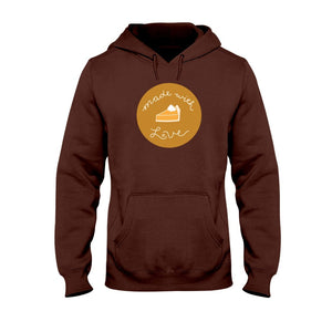 Made with Love Classic Fit Pullover Hooded Sweatshirt-Sweatshirts-Dark Chocolate-S-AllGo