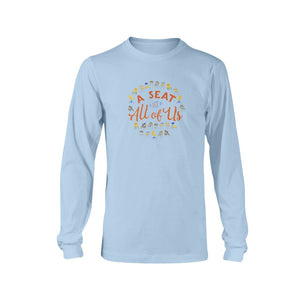 A Seat for All of Us Classic Fit Long Sleeve T-Shirt-Shirts-Light Blue-S-AllGo
