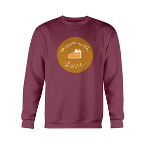 Made with Love Classic Fit Crewneck Sweatshirt-Sweatshirts-Maroon-S-AllGo