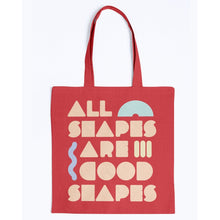 Load image into Gallery viewer, All Shapes are Good Shapes Canvas Tote-Accessories-Red-M-AllGo