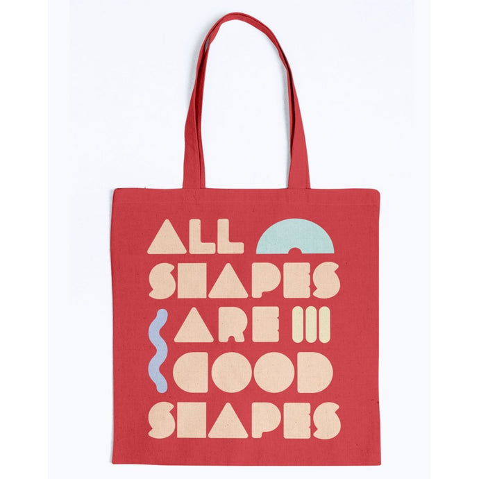 All Shapes are Good Shapes Canvas Tote-Accessories-Red-M-AllGo