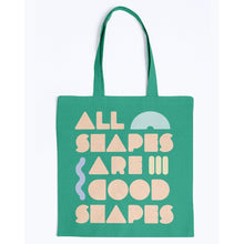 Load image into Gallery viewer, All Shapes are Good Shapes Canvas Tote-Accessories-Kelly Green-M-AllGo