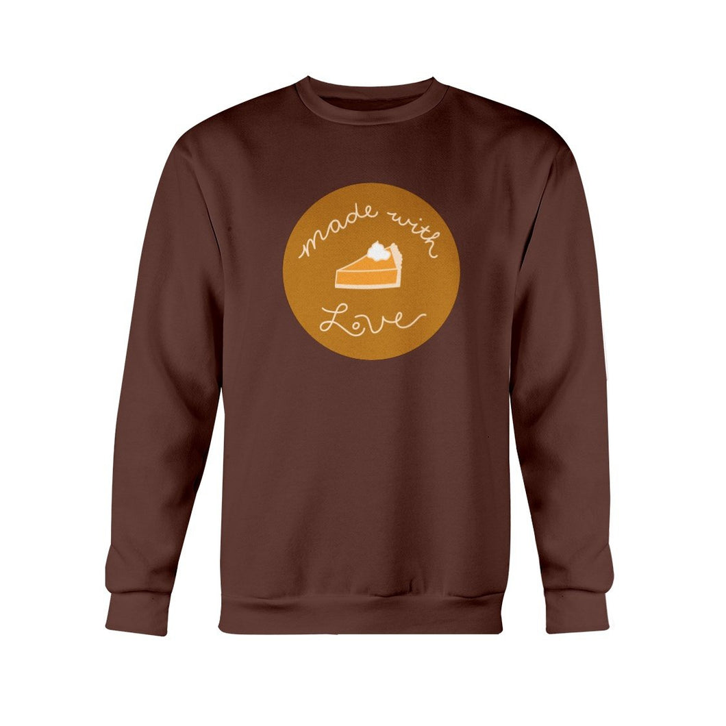 Made with Love Classic Fit Crewneck Sweatshirt-Sweatshirts-Dark Chocolate-S-AllGo