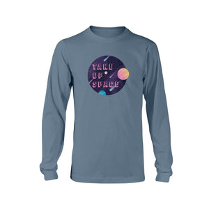 Take Up Space Classic Fit Long Sleeve T-Shirt-Shirts-Indigo Blue-S-AllGo
