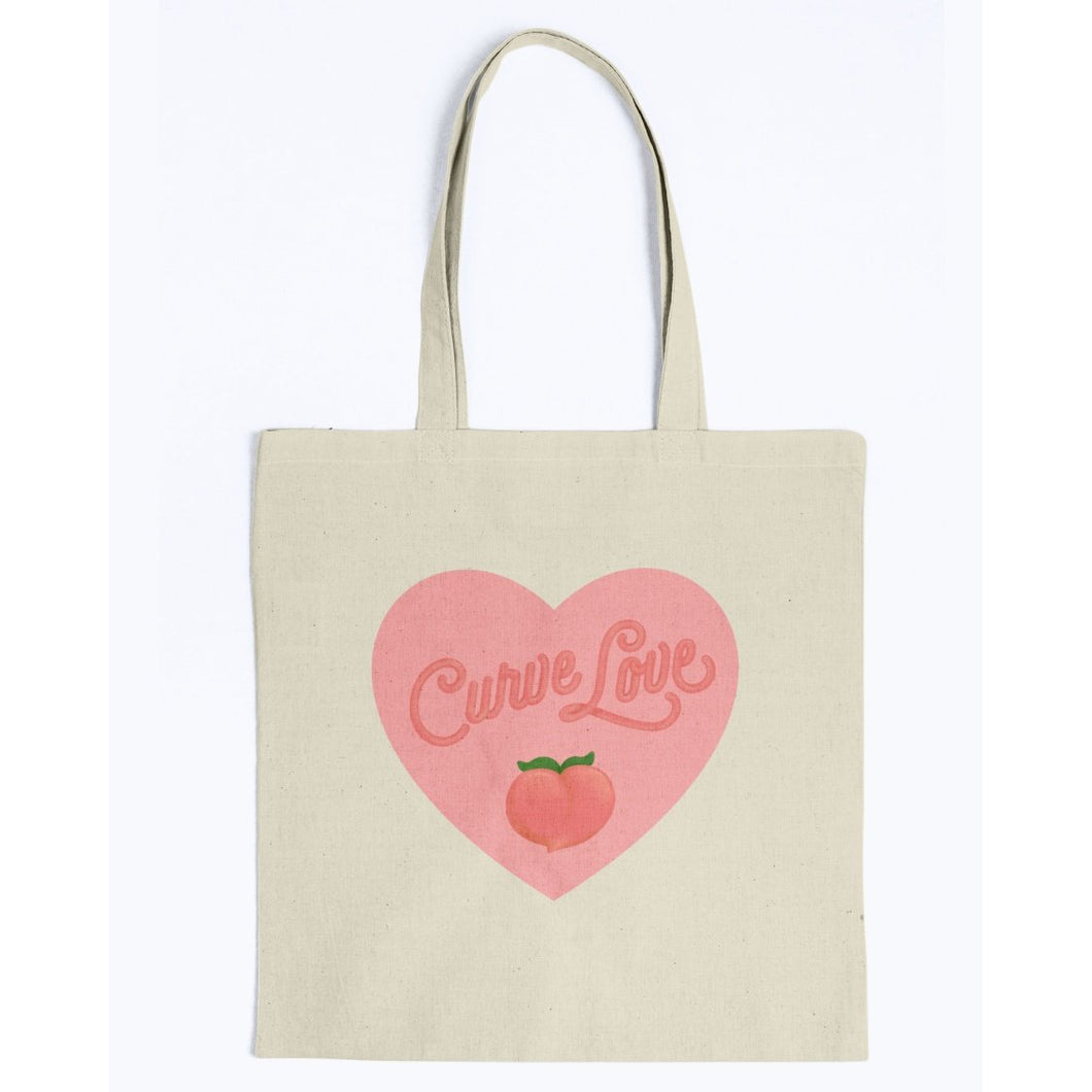Curve Love Canvas Tote-Accessories-Natural-M-AllGo