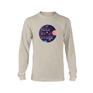 Take Up Space Classic Fit Long Sleeve T-Shirt-Shirts-Sand-S-AllGo