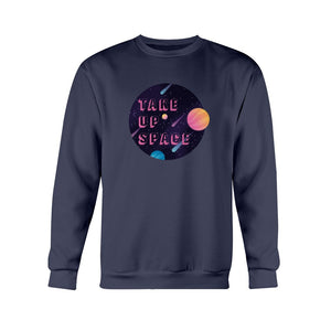 Take Up Space Classic Fit Crewneck Sweatshirt-Sweatshirts-Navy-S-AllGo