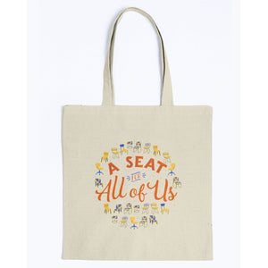 A Seat for All of Us Canvas Tote-Accessories-Natural-M-AllGo