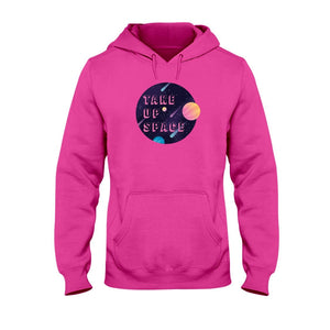 Take Up Space Classic Fit Pullover Hooded Sweatshirt-Sweatshirts-Heliconia-S-AllGo