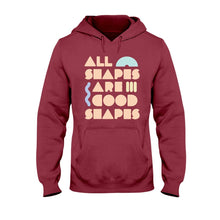 Load image into Gallery viewer, All Shapes are Good Shapes Classic Fit Pullover Hooded Sweatshirt-Sweatshirts-Cardinal Red-S-AllGo