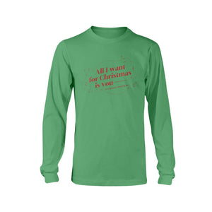 All I Want for Christmas is You (to Stop Body Shaming Me) Classic Fit Long Sleeve T-Shirt-Shirts-Irish Green-S-AllGo