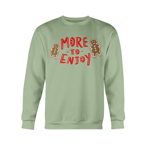 More to Enjoy Classic Fit Crewneck Sweatshirt-Sweatshirts-Serene Green-S-AllGo
