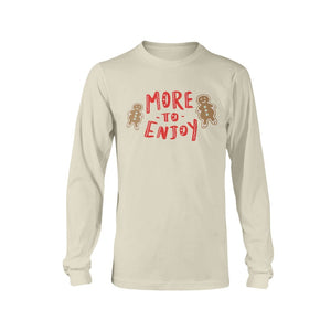 More to Enjoy Classic Fit Long Sleeve T-Shirt-Shirts-Natural-S-AllGo