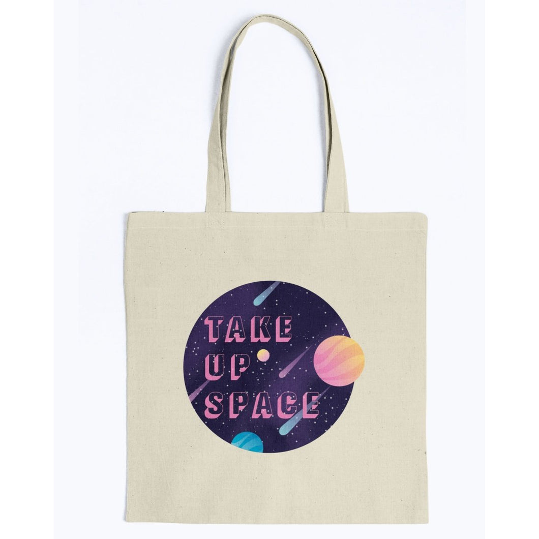 Take Up Space Canvas Tote-Accessories-Natural-M-AllGo