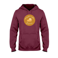 Load image into Gallery viewer, Made with Love Classic Fit Pullover Hooded Sweatshirt-Sweatshirts-Maroon-S-AllGo