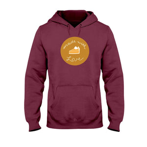 Made with Love Classic Fit Pullover Hooded Sweatshirt-Sweatshirts-Maroon-S-AllGo