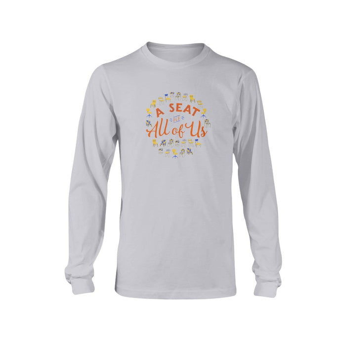 A Seat for All of Us Classic Fit Long Sleeve T-Shirt-Shirts-Ash-S-AllGo