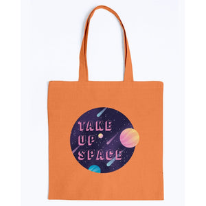 Take Up Space Canvas Tote-Accessories-Orange-M-AllGo