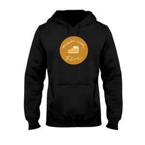 Made with Love Classic Fit Pullover Hooded Sweatshirt-Sweatshirts-Black-S-AllGo