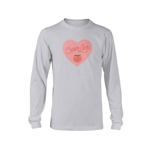 Curve Love Classic Fit Long Sleeve T-Shirt-Shirts-Ash-S-AllGo