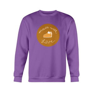 Made with Love Classic Fit Crewneck Sweatshirt-Sweatshirts-Purple-S-AllGo