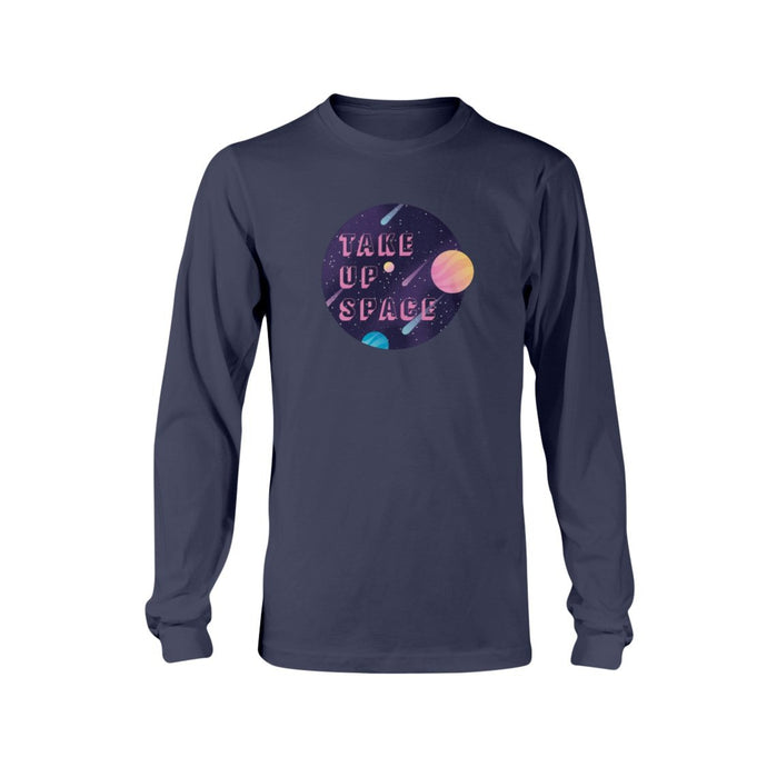 Take Up Space Classic Fit Long Sleeve T-Shirt-Shirts-Navy-S-AllGo