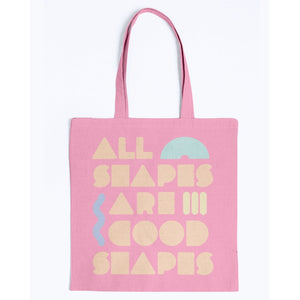 All Shapes are Good Shapes Canvas Tote-Accessories-Pink-M-AllGo