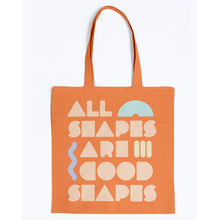 Load image into Gallery viewer, All Shapes are Good Shapes Canvas Tote-Accessories-Orange-M-AllGo