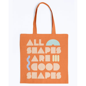 All Shapes are Good Shapes Canvas Tote-Accessories-Orange-M-AllGo