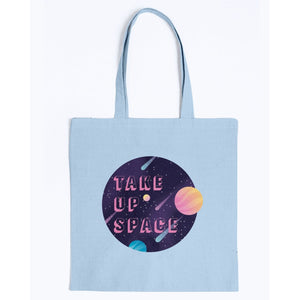 Take Up Space Canvas Tote-Accessories-Light Blue-M-AllGo