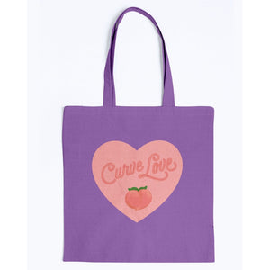 Curve Love Canvas Tote-Accessories-Purple-M-AllGo